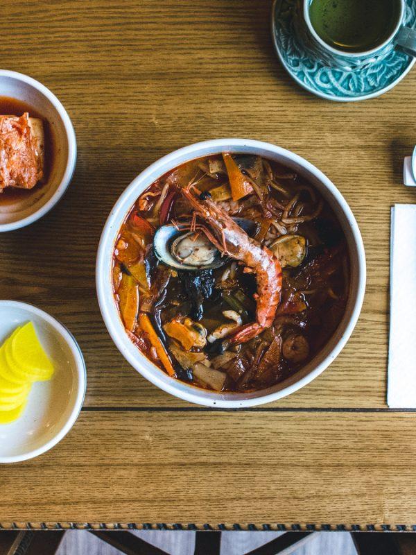 Lobster Garlic Noodles Soup