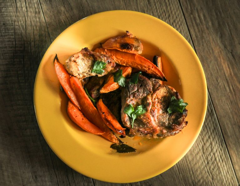 Sweet Potato With Grilled Chicken